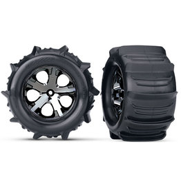 """Traxxas 3689 - Paddle Tires 2.8"""" Pre-Mounted w/All-Star Electric Rear Wheels (2)"""