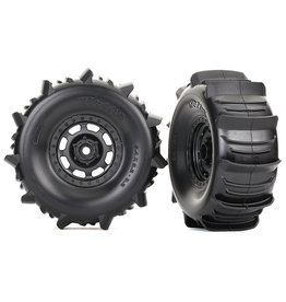 Traxxas 8475 - Unlimited Desert Racer Pre-Mounted Paddle Tires (2)