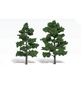 "Woodland Scenics TR1516 - Ready Made Trees, Medium Green 6-7"" (2)"