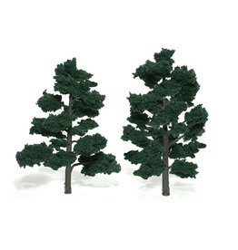 "Woodland Scenics TR1517 - Ready Made Trees, Dark Green 6-7"" (2)"