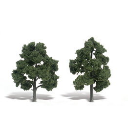 "Woodland Scenics TR1513 - Ready Made Trees, Medium Green 5-6"" (2)"