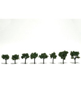 "Woodland Scenics TR1501 - Ready Made Trees, Medium Green 3/4""-1 1/4"" (8)"