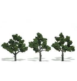 "Woodland Scenics TR1510 - Ready Made Trees, Medium Green 4-5"" (3)"