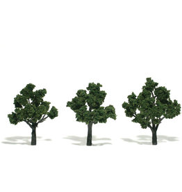 "Woodland Scenics TR1507 - Ready Made Trees, Medium Green 3-4"" (3)"