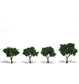 "Woodland Scenics TR1504 - Ready Made Trees, Medium Green 2-3"" (4)"