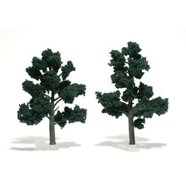 "Woodland Scenics TR1514 - Ready Made Trees, Dark Green 5-6"" (2)"