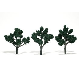 "Woodland Scenics TR1511 - Ready Made Trees, Dark Green 4-5"" (3)"