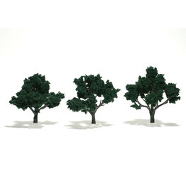 "Woodland Scenics TR1508 - Ready Made Trees, Dark Green 3-4"" (3)"