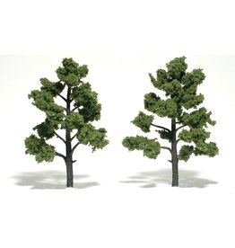 "Woodland Scenics TR1512 - Ready Made Trees, Light Green 5-6"" (2)"