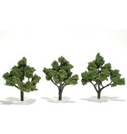 "Woodland Scenics TR1509 - Ready Made Trees, Light Green 4-5"" (3)"