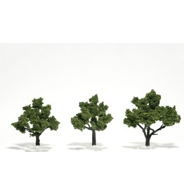 "Woodland Scenics TR1506 - Ready Made Trees, Light Green 3-4"" (3)"