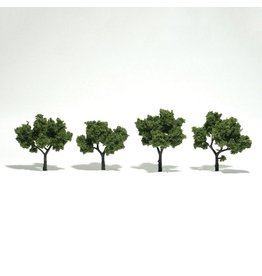 "Woodland Scenics TR1503 - Ready Made Trees, Light Green 2-3"" (4)"