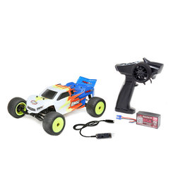 Losi 1/18 Mini-T 2.0 2WD Stadium Truck RTR, Blue/White