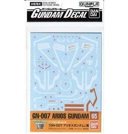 Bandai Decal 65 Arios Gundam 1/100