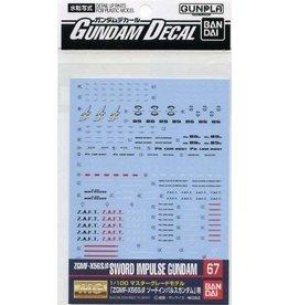 Bandai Decal 67 MG Sword Impulse Gundam
