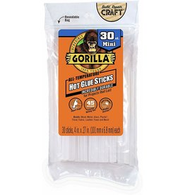 Gorilla Glue Gorilla - Hot Glue Stick Mini (4in, 30pck)