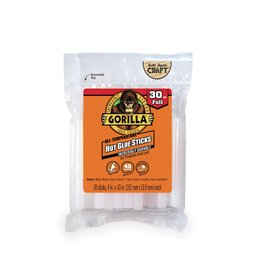 Gorilla Glue Gorilla - Hot Glue Stick Full Size (4in, 30pck)
