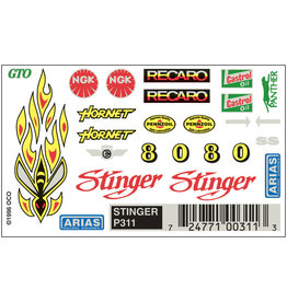 Pinecar 311 - Dry Transfer Decals - Stinger