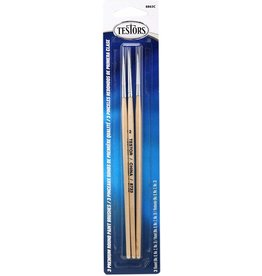 Testors 8863C - Premium 3-Pack Round Sable Brushes