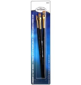 Testors 8862C - Premium 3-Pack Flat Sable Paint Brushes