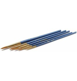 Royal Brush Manufacturing TK-M - Brush Set Gold Taklon 5-Pack - Pointed Rounds