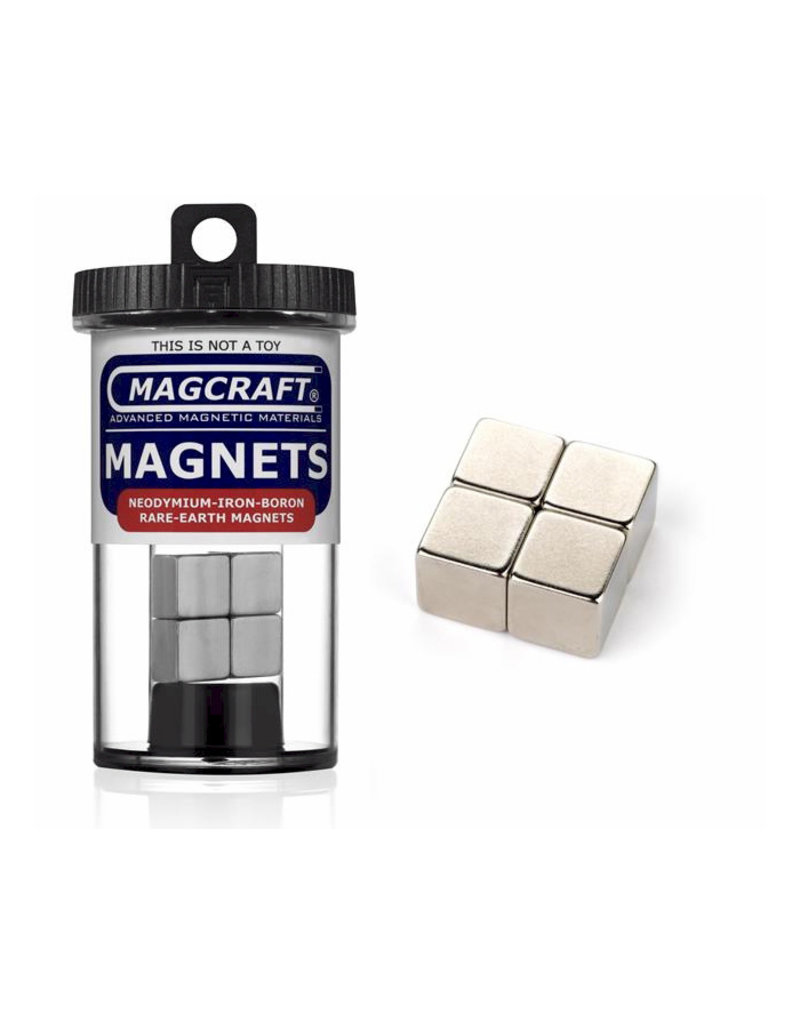 """Magcraft NSN0607 - Cube 0.5"""" x 0.5"""" (4 Count)"""