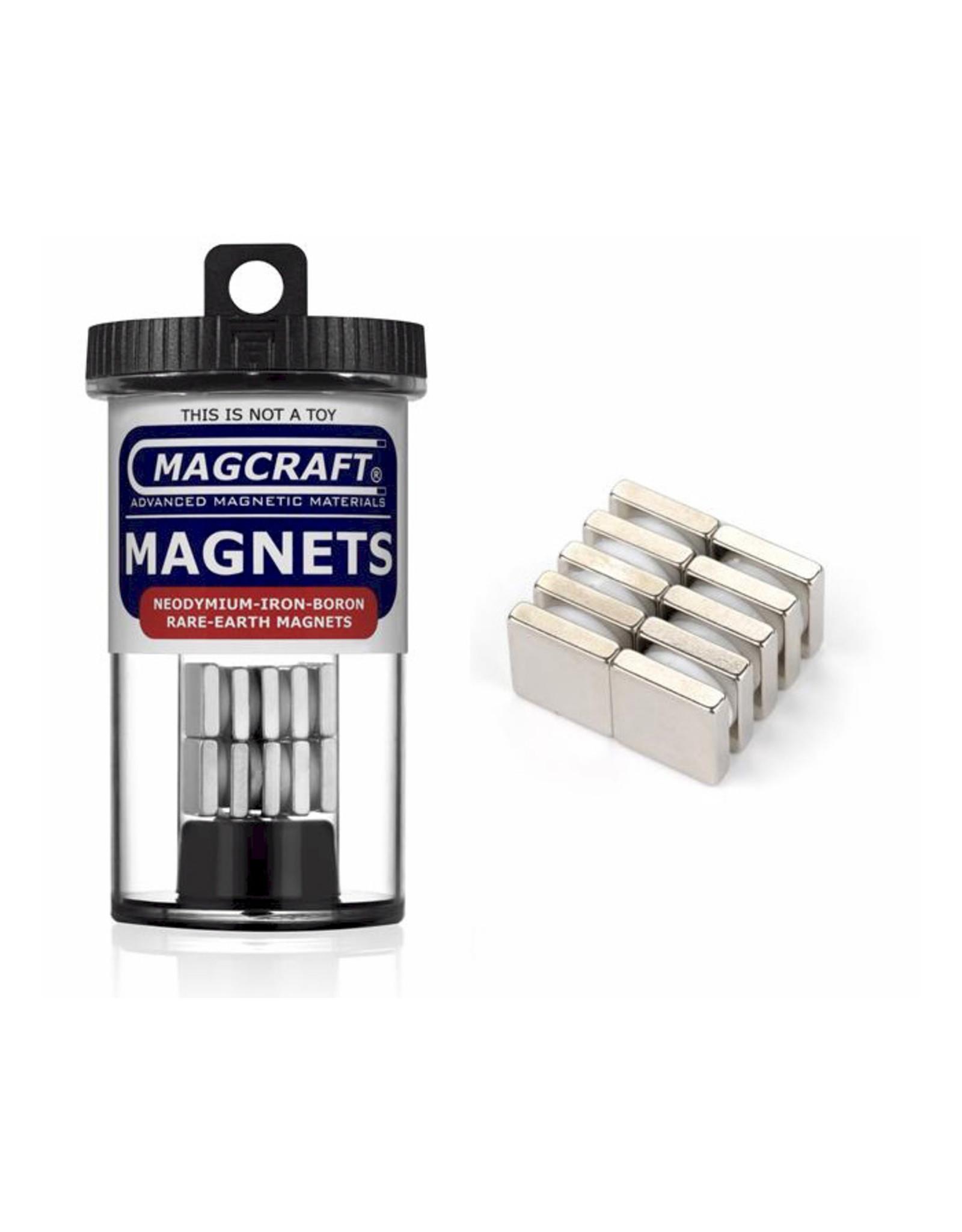 "Magcraft NSN0911 - Block 0.5"" x 0.5"" x 0.125"" (10 Count)"
