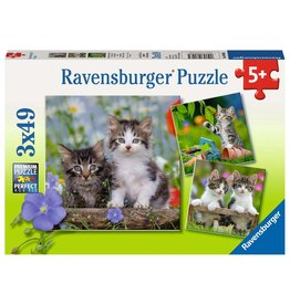Ravensburger Tiger Kittens - 49 Piece Puzzle (3 Pack)