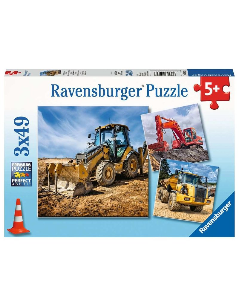 Ravensburger Digger at Work! - 49 Piece Puzzle (3 Pack)