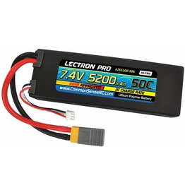 Common Sense RC 2S5200-50X - 7.4V 5200mAh 50c Lipo XT60