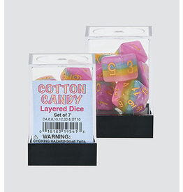 Koplow Games Cotton Candy 7pc Layered Dice Set
