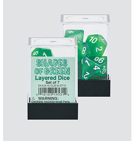 Koplow Games Shades of Green 7pc Layered Dice Set