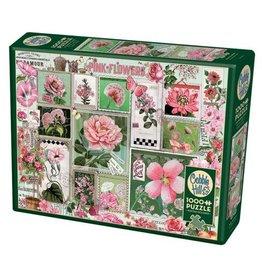 Cobble Hill Pink Flowers - 1000 Piece Puzzle