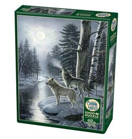 Cobble Hill Wolves By Moonlight - 1000 Piece Puzzle
