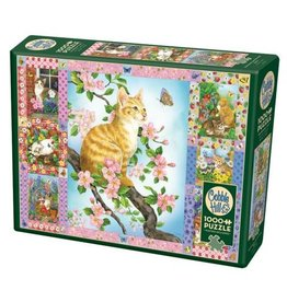 Cobble Hill Blossoms and Kittens Quilt - 1000 Piece Puzzle