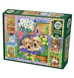 Cobble Hill Puppies and Posies Quilt - 1000 Piece Puzzle