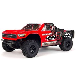 Arrma 1/10 SENTON MEGA 550 Brushed 4WD Short Course Truck RTR - Red/Black