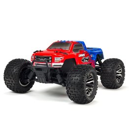 Arrma 1/10 4X4 GRANITE 3S BLX 4WD Brushless Monster Truck with Spektrum RTR - Red/Blue