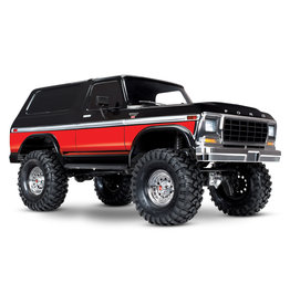 Traxxas 1/10 TRX-4 Trail Crawler Truck w/'79 Bronco Ranger XLT Body - Red