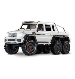 Traxxas 1/10 Mercedes-Benz G 63 AMG 6x6 RTR Scale and Trail Crawler - White