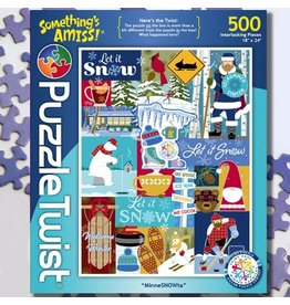 Puzzle Twist MinneSNOWta - 500 Piece Puzzle