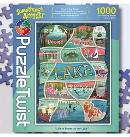 Puzzle Twist Life Is Better At The Lake - 1000 Piece Puzzle