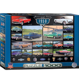 Eurographics American Cars Of The 1950's - 1000 Piece Puzzle