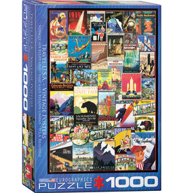 Eurographics Travel USA Vintage Posters - 1000 Piece Puzzle