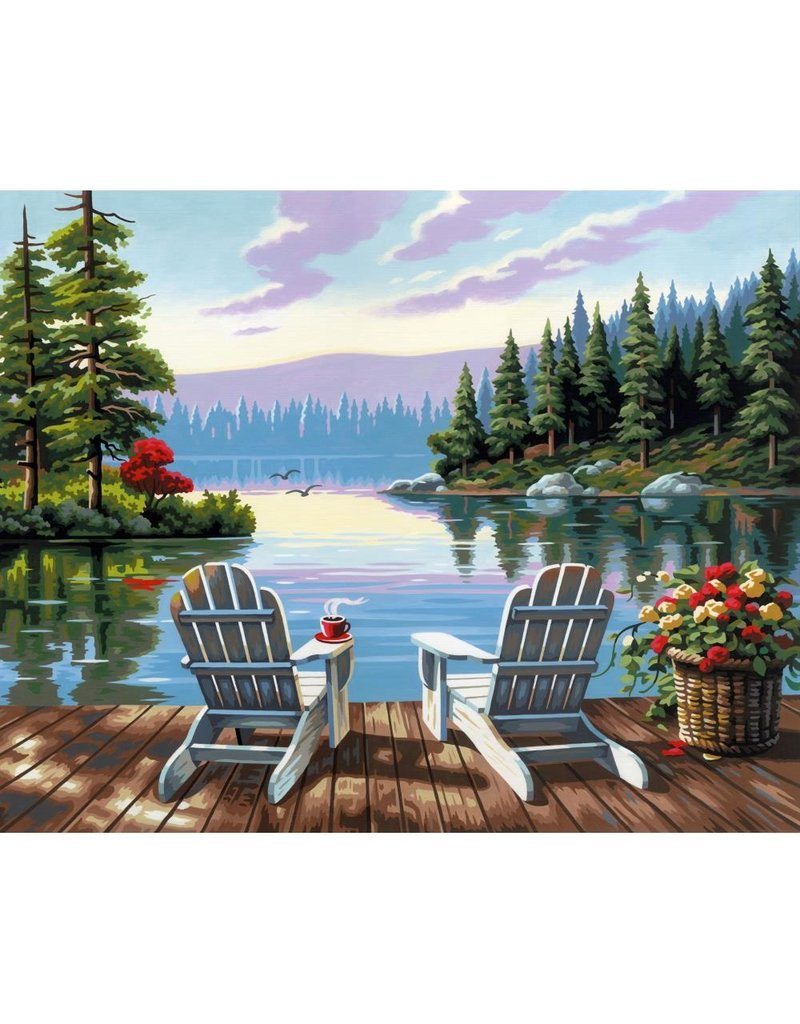 Dimensions Lakeside Morning - 16x20 - Paint By Number