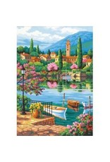 Dimensions Village Lake Afternoon - 14x20 - Paint By Number