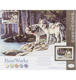 Dimensions Gray Wolves - 14x20 - Paint By Number