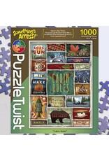 Puzzle Twist Cabin Rules - 1000 Piece Puzzle