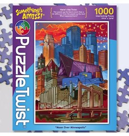 Puzzle Twist Moon Over Minneapolis - 1000 Piece Puzzle