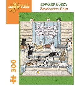 Pomegranate E Gorey - Seventeen Cats - 300 Piece Puzzle